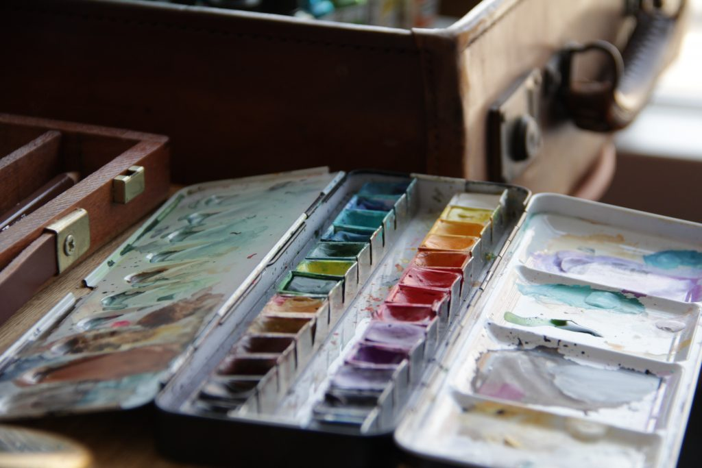 絵本作家そらさん画材道具