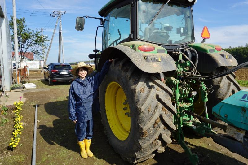 農場ピクニック長いも掘り体験トラクター