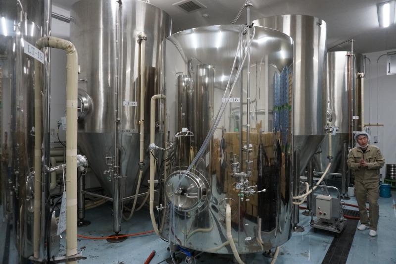 網走ビール製造工程工場長