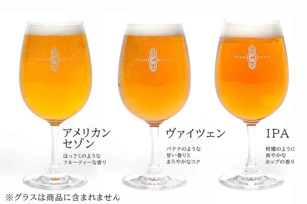 澄川麦酒醸造所 ビールをグラスに注いだイメージ