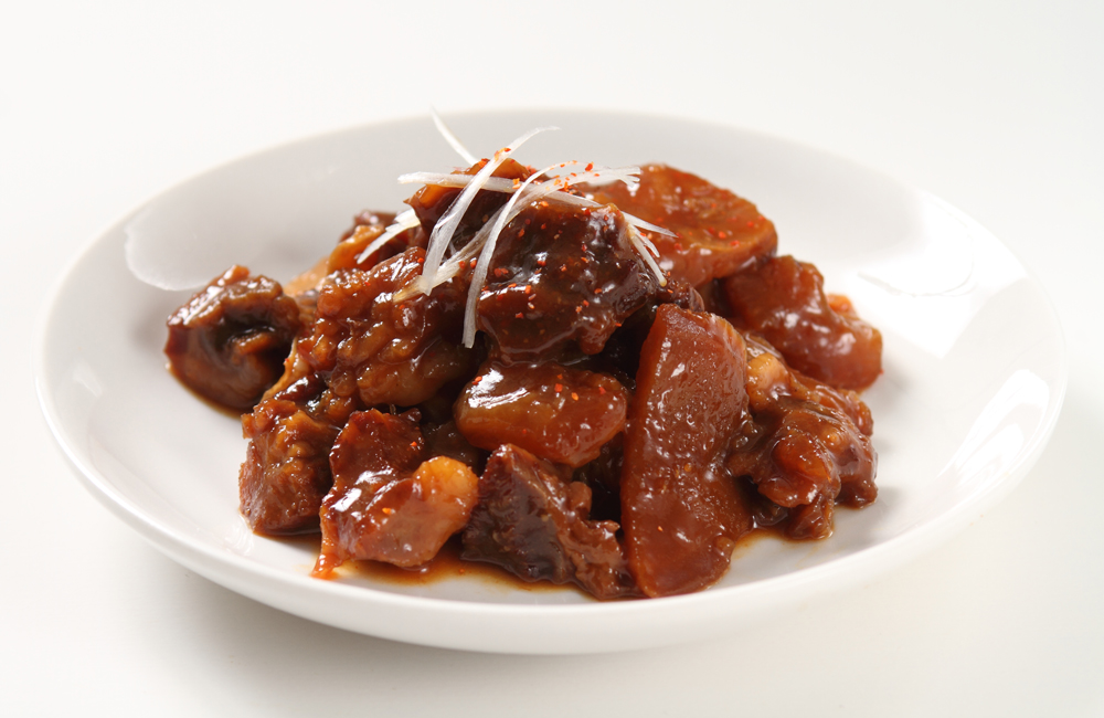 肉ソン大統領 北海道産牛すじを使用した秘伝の辛味噌牛すじ缶詰 (北海道産牛すじ100%) 調理イメージ