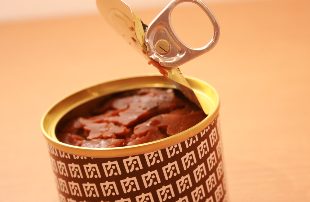 肉ソン大統領 北海道産牛すじを使用した秘伝の辛味噌牛すじ缶詰 (北海道産牛すじ100%) アップ